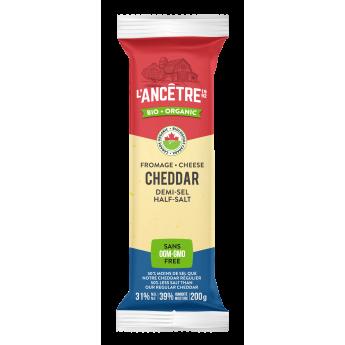 Half-salt organic cheddar